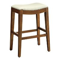OSP Designs Nailhead Saddle Bar Stool