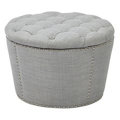 Ave Six Lacey Tufted Nesting Ottoman 2-piece Set by