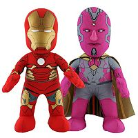 Marvel Avengers Iron Man & Vision 10-in. Plush Figure Dynamic Duo Set by Bleacher Creatures