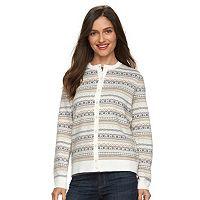 Women's Croft & Barrow® Cozy Essential Cardigan Sweater