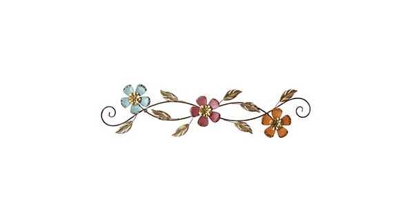 Metal Flower Wall Decor Kohls : Stratton home decor floral scroll metal wall