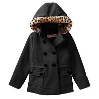 Girls 4-6x Urban Republic Double-Breasted Midweight Peacoat