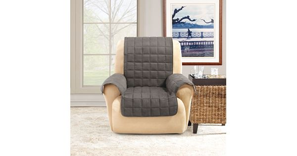 Sure Fit Ultimate Waterproof Suede Recliner Wing Cover
