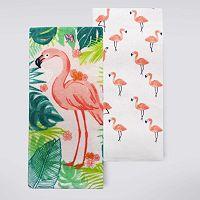 Celebrate Summer Together Flamingo Kitchen Towel 2-pk.