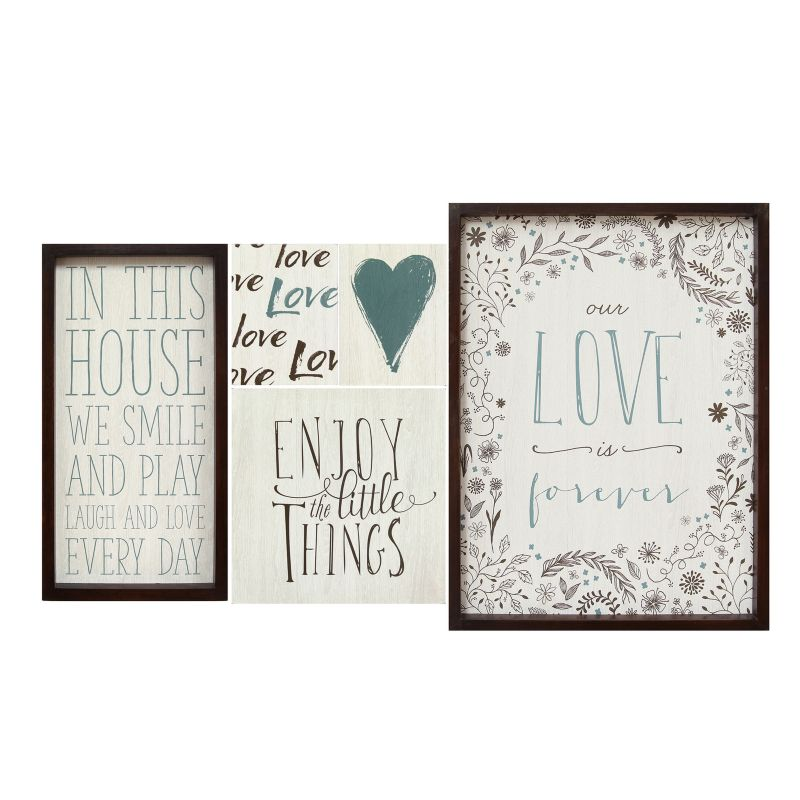 Stratton Home Decor Love Sentiments Wall Art 5-piece Set, Multicolor thumbnail
