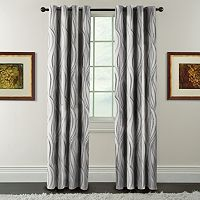 Arlee Celestina Wave Jacquard Blackout Curtain