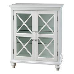 Elegant Home Fashions Wyatt Two Door Floor Storage Cabinet by