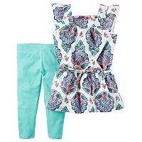 Girls 4-6x Carter's Crinkle Gauze Tunic & Leggings Set