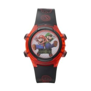 Super Mario Bros. Mario & Luigi Kids' Digital Light-Up Watch