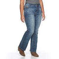 Juniors' Plus Size Vanilla Star Embellished Bootcut Jeans