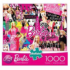 Buffalo Games 1000-pc.Collage Crazy Fashion Fabulous Barbie Puzzle