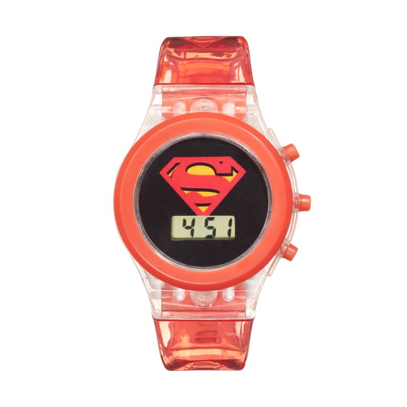 CHEAP DC Comics Superman Kids' Digital Light-Up Watch, Boy ...