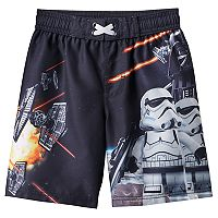 Boys 4-7 Star Wars Graphic Swim Trunks