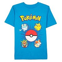 Boys 4-7 Pokémon Pikachu Faces Tee