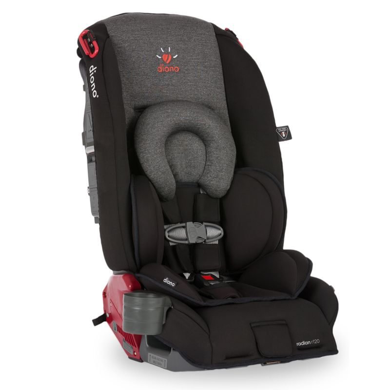 Diono Radian R120 Colorblocked Convertible Booster Car Seat, Grey