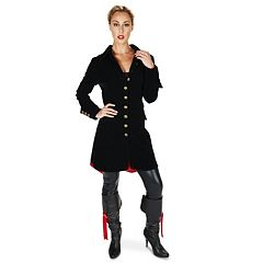 Adult Velvet Pirate Jacket Costume by