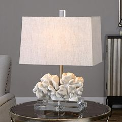 Faux Coral Sculpture Table Lamp by