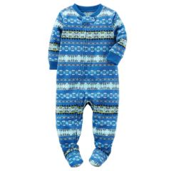 Baby Boy Carter's Winter Printed Fleece Footed Pajamas