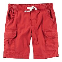 Toddler Boy Carter's Red Canvas Cargo Shorts