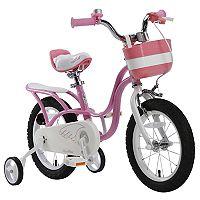 Girls Royalbaby Little Swan 14-Inch Training Wheel Bike with Basket
