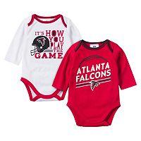 Baby Gerber Atlanta Falcons 2-Pack Long Sleeve Bodysuit