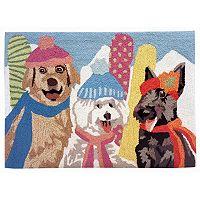 Trans Ocean Imports Liora Manne Frontporch Ski Dogs Indoor Outdoor Rug
