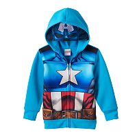 Toddler Boy Marvel Captain America Eye Mask Hoodie