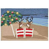 Trans Ocean Imports Liora Manne Frontporch Coastal Christmas Indoor Outdoor Rug