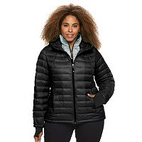 Plus Size Halitech Hooded Packable Down Jacket