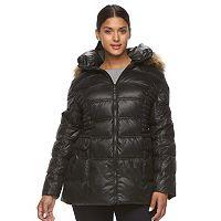 Plus Size Halitech Hooded Puffer Jacket