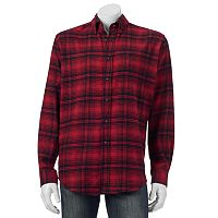 Big & Tall Croft & Barrow® Slim-Fit Plaid Flannel Button-Down Shirt