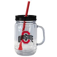 Boelter Brands Ohio State Buckeyes 20-Ounce Plastic Mason Jar Tumbler