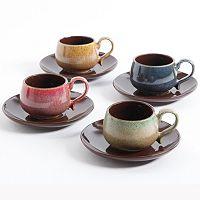 Mr. Coffee Natura Array 8-pc. Espresso Coffee Mug & Saucer Set