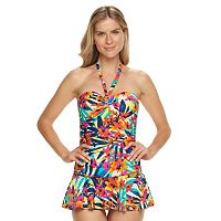 Women's Chaps Body Sculptor & Tummy Slimmer Floral Swimdress