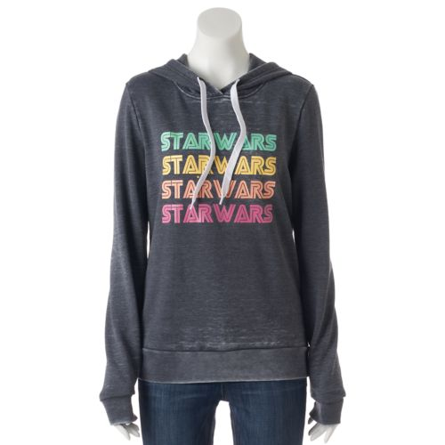 Juniors' Star Wars Colorful Logo Graphic Hoodie