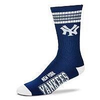 Men's For Bare Feet New York Yankees Deuce Striped Crew Socks