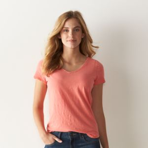 Women's SONOMA Goods for Life™ Essential Solid V-Neck Tee