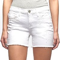 Women's Rock & Republic® Hula White Star Shorts