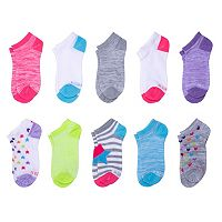 Girls 4-16 Hanes 10-pk. No-Show Socks
