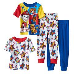 Toddler Boy Paw Patrol Chase, Marshall, Rubble & Skye 4-pc. Pajama Set