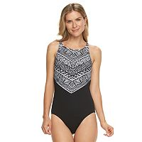 Women's Chaps Tribal High-Neck One-Piece Swimsuit