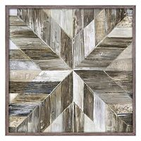Arrow Wood Framed Canvas Wall Art