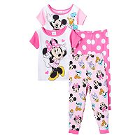 Disney's Minnie Mouse Minnie & Friends Toddler Girl 4-pc. Pajama Set
