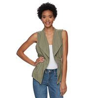Juniors' Mudd® Open Front Utility Vest