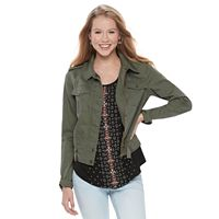Juniors' Mudd® Zip Snap Utility Jacket
