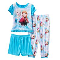 Disney's Frozen Elsa & Anna Toddler Girl Ruffle 3-pc. Pajama Set
