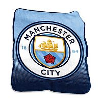 Logo Brand Manchester City FC Raschel Throw Blanket