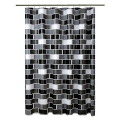 Bath Bliss Brick Shower Curtain Set by