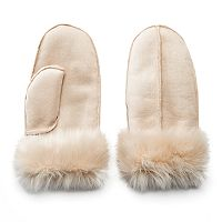 Mudd® Faux-Suede Mittens