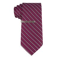 Men's Van Heusen Flash/FX Reflective Skinny Tie with Tie Bar